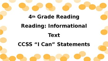 Fourth-Grade Kid-Friendly ELA Standards