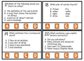 4th Grade Language Arts Test Prep Activities