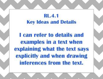 Fourth Grade Language Arts Common Core I Can Statements