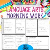 Fourth Grade Language Arts Morning Work or Homework - Spir