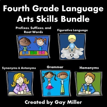 Fourth Grade Language Arts Skills Bundle