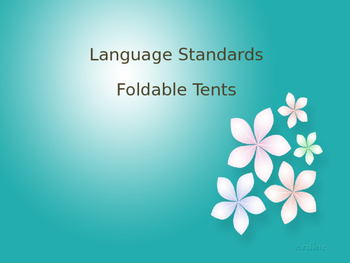 Fourth Grade Language Standards Foldable Table Tents