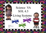Fourth Grade Living Systems Study guide SOL 4.5