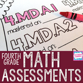 4th Grade Math Assessments | Distance Learning | Common Core