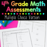 Fourth Grade Math Assessments Test Prep Edition