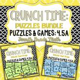 Fourth Grade Math Bar Model Puzzles 4.5A & 4.OA3 SETS 1&2 BUNDLED