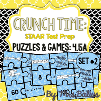 Fourth Grade Math Bar Model Puzzles TEKS 4.5A CCSS 4.OA.3 Level 4 SET #2