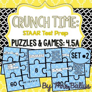 Fourth Grade Math Bar Model Puzzles TEKS 4.5A CCSS 4.OA.3