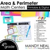 Fourth Grade Digit Math Centers Area and Perimeter   Dista