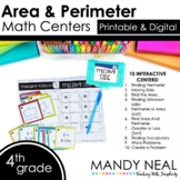Fourth Grade Digit Math Centers Area and Perimeter | Dista