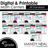 Fourth Grade Digital Math Centers   Distance Learning ~ Bundle
