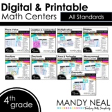 Fourth Grade Digital Math Centers | Distance Learning ~ Bundle