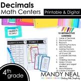 Fourth Grade Math Centers Decimals ~ Digital for Google Classroom
