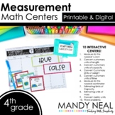 Fourth Grade Digital Math Centers Measurement | Distance Learning