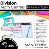 Fourth Grade Digital Math Centers Division | Distance Learning