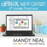 Fourth Grade Math Centers Fractions ~ Digital for Google C