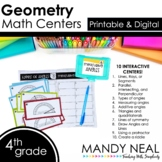 Fourth Grade Digital Math Centers Geometry | Distance Learning