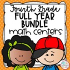 Fourth Grade Math Centers Growing Bundle