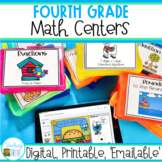 Fourth Grade Math Centers Growing Bundle | Digital and Print