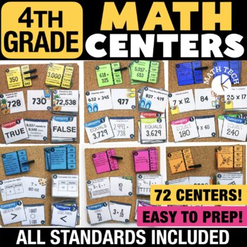 Fourth Grade Math Centers Bundle - Math Games for Guided Math