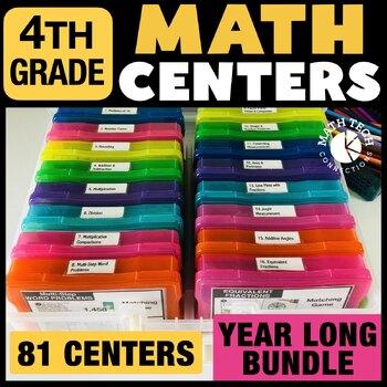 4th Grade Math Centers Bundle - Math Games for Guided Math