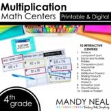 Fourth Grade Digital Math Centers Multiplication   Distanc
