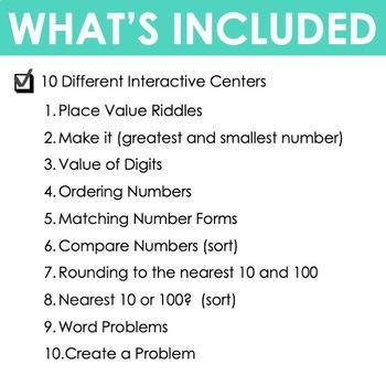 #TpTFireworkFourth Grade Math Centers Place Value ~ Digital for Google Classroom