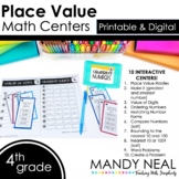 Fourth Grade Digital Math Centers Place Value | Distance Learning