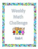 Fourth Grade Math Challenges