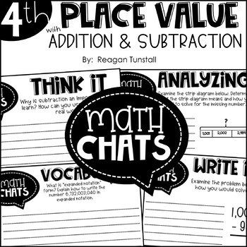 Fourth Grade Math Chats Bundle