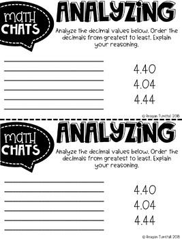 Fourth Grade Math Chats Decimals