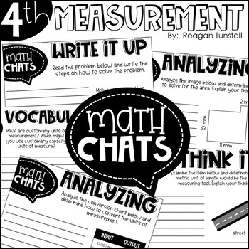 Fourth Grade Math Chats Measurement