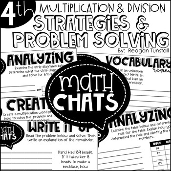 Fourth Grade Math Chats Multiplication & Division Strategies and Problem Solving