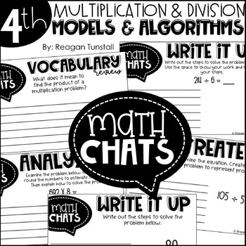 Fourth Grade Math Chats Multiplication and Division Models & Algorithms