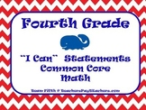 "Fourth Grade Math Common Core ""I Can"" Statements - Whales"