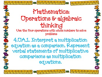 Fourth Grade Math Common Core Standards Ruler Border
