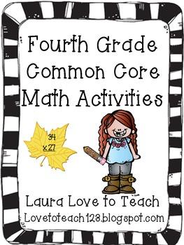 Fourth Grade Math Common Core Unit
