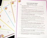 Fourth Grade Math Core Posters-Set of Six - With Free Checklists