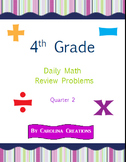 Fourth Grade Math Daily Review Problems for the Smart Board - Qtr. 2