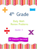 Fourth Grade Math Daily Review Problems for the Smart Board - Qtr. 3