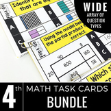 4th Grade Math Task Cards BUNDLE   Varied Question Types