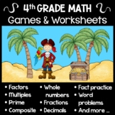 Fourth Grade Math Games - Decimals, Fractions, Factors, Mu