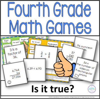 Fourth Grade Math Games ~ Thumbs Up or Thumbs Down?