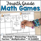 Fourth Grade Spiral Review Math Center Games