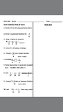 Fourth Grade Math Homework Review For The Year