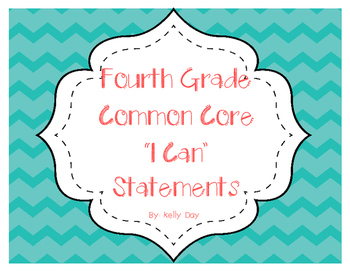 "Fourth Grade ""I Can"" Statements"