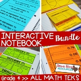 Fourth Grade Math Interactive Notebook Bundle- All TEKS Standards