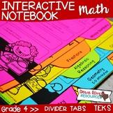 Fourth Grade Math Interactive Notebook: Divider Tabs for Organization (TEKS)