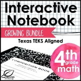 Fourth Grade Math Interactive Notebook GROWING Bundle