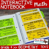 Fourth Grade Math Interactive Notebook: Geometry 2-D Attributes (TEKS)